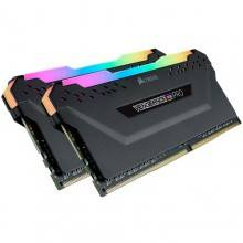 MEMORIA CORSAIR DDR4 16GB 2X8GB PC 3200 VENGEANCE RGB PRO BLACK
