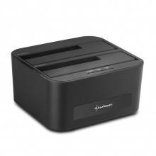 "DOCKING STATION SHARKOON QUICKPORT XT DUO 2.5""/3.5\"" SATA USB 3.0 CLONE FUNCTION"