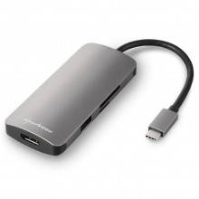 HUB USB SHARKOON 3X3.0 TYPE C + HDMI  ALUMINIO GRIS OSCURO
