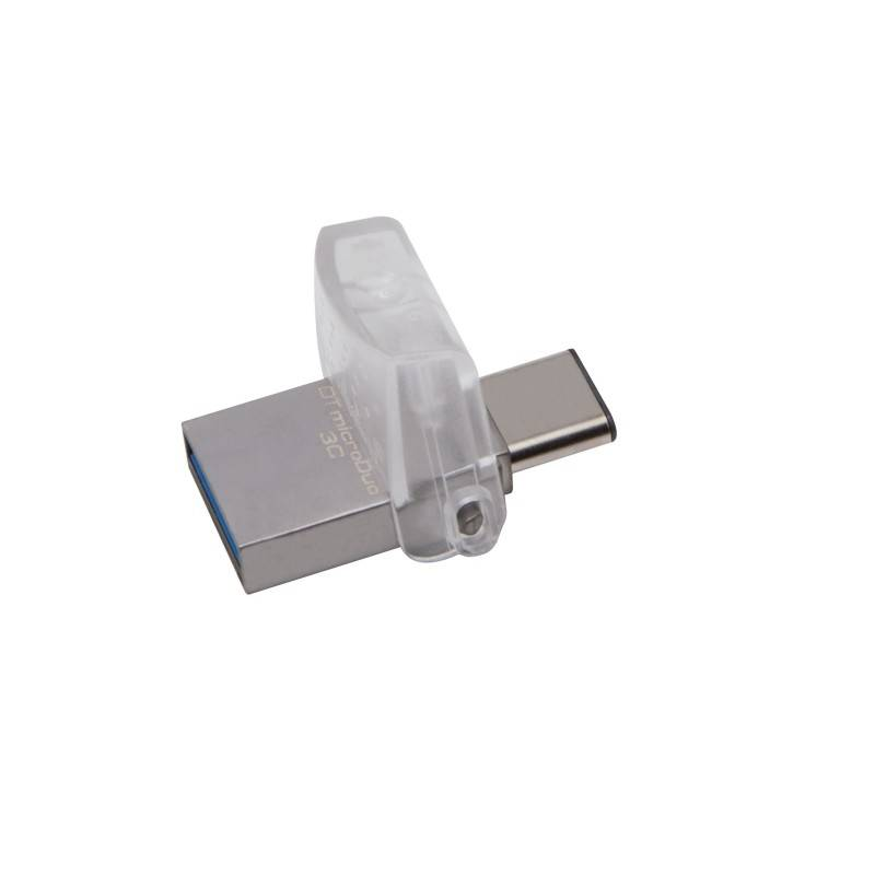 Kingston Technology DataTraveler microDuo 3C 32GB unidad flash USB USB Type-A   USB Type-C 3.0 (3.1 Gen 1) Plata