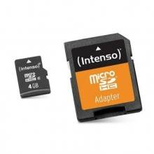 Intenso 3413450 Micro SD clase 10 4GB c/adapt