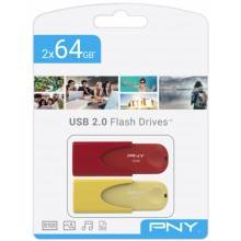 TWIN PACK 2x64GB USB2.0 LIMITED EDITION PNY