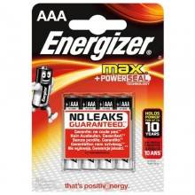 BLISTER 4 PILAS MAX TIPO LR03 (AAA) ENERGIZER