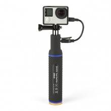 QUICKMEDIA POWER GRIP MONOPOD con BATERIA integrada 5200Mah (QMHGPB)