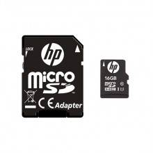 MEM MICRO SDHC 16GB HP CL10 U1 NEGRO ADAPTADOR SD