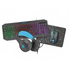 PACK GAMING 4 EN 1 FURY THUNDERSTREAK TECLADO+RATON+AURICULAR+ALFOMBRILLA