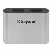 Kingston Technology Workflow microSD Reader lector de tarjeta USB 3.2 Gen 1 (3.1 Gen 1) Type-C Negro, Plata