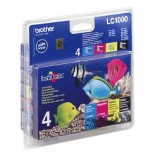 Brother Lc-1000 Cartucho De Tinta Original Negro, Cian, Magenta, Amarillo Multipack